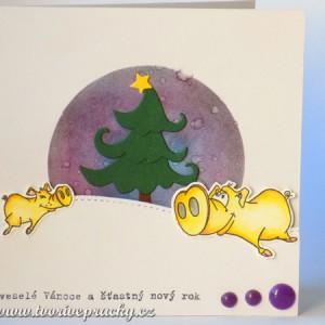 Veselé vánoční prasátkové přání