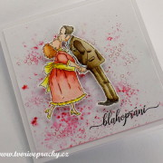 ručně vyrobené přání pro manželský pár k výročí nebo narozeninám