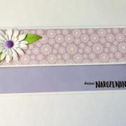 Darovací obálka fialová s květinami