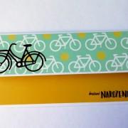 darovací obálka na peníze nebo voucher pro cyklistu