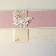 darovací obálka ke svatbě nebo narozeninám s motýlem