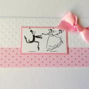 darovací obálka ke svatbě s veselým párem