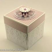 Vánoční krabička na darování peněz nebo voucheru