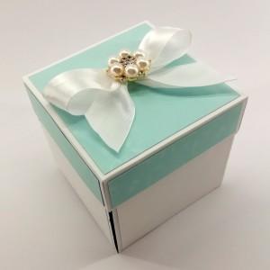 Modrá svatební krabička