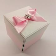 Růžová svatební krabička na peníze