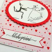 Svatební přání s veselými novomanželi