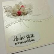Svatební přání s květy