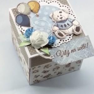 Krabička pro miminko na darování peněz