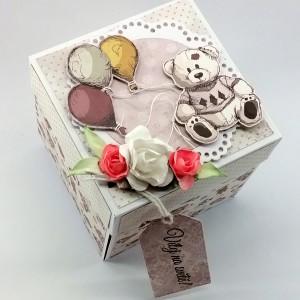 Krabička na darování peněz nebo voucheru k narození holčičky