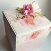 květinová svatební krabička na peníze