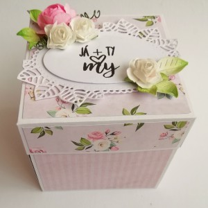 Svatební krabička na darování peněz novomanželů