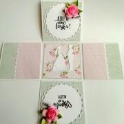 svatební papírová krabička na darování peněz novomanželům