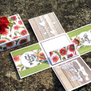 Svatební krabička s vlčími máky