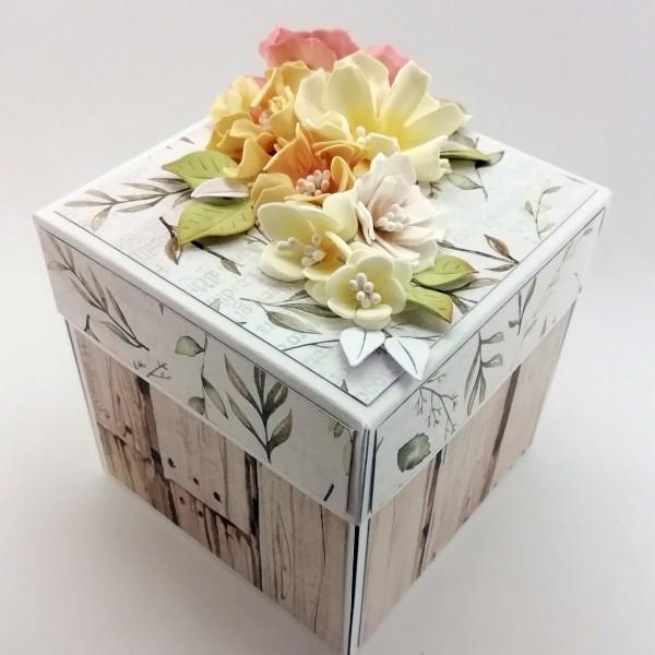 Květinová krabička na darování peněz ke svatbě