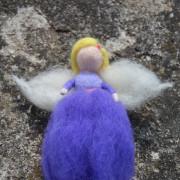 Plstěná víla fialovo-modrá