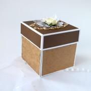 Přírodní svatební krabička na darování peněz
