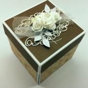 Přírodní svatební krabička na peníze
