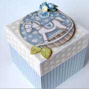 Krabička na darování peněz k narození chlapečka