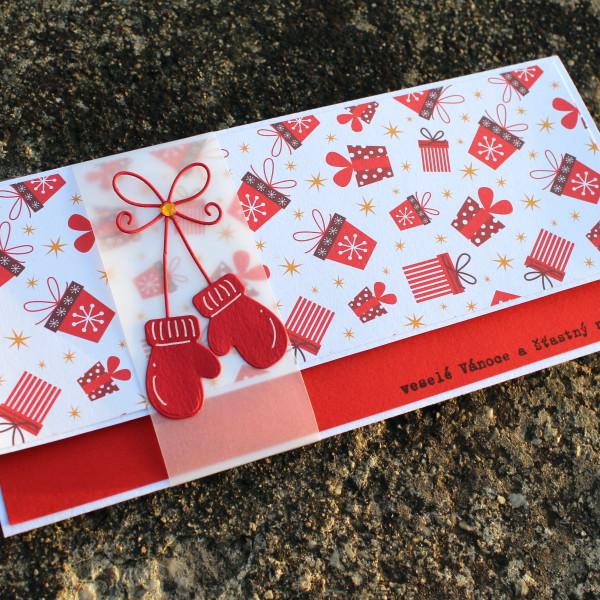 Vánoční obálka na peníze nebo voucher