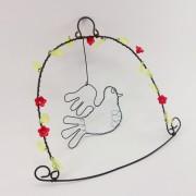 Drátovaná dekorace s ptáčkem