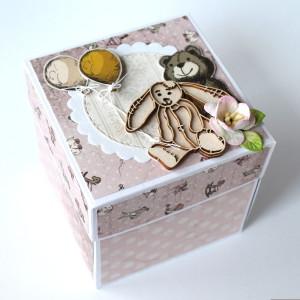 Krabička na darování peněz k narození holčičky