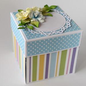 Krabička pro darování peněz k narození chlapečka