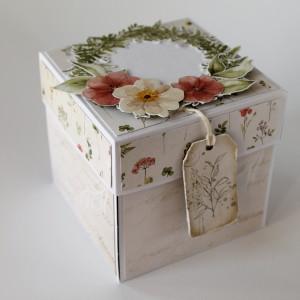 Květinová krabička na darování peněz